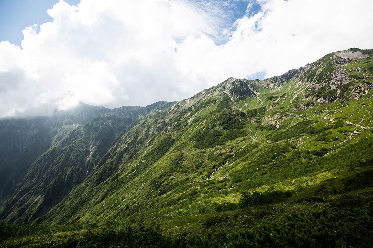 これで笠ヶ岳を見納め