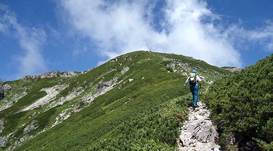 笠ヶ岳 クリヤ谷