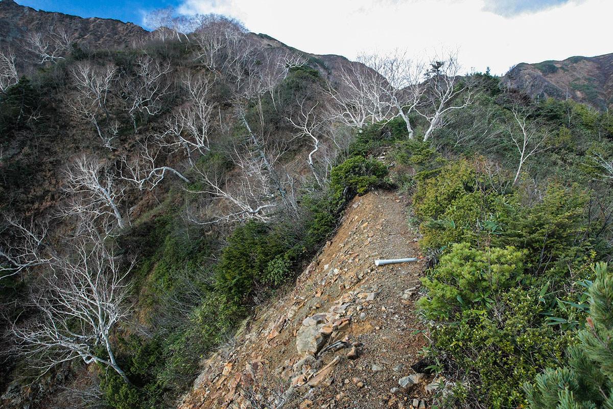 【鹿島槍ヶ岳】登山百景-赤岩尾根の核心部へ
