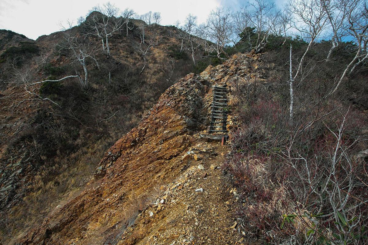 【鹿島槍ヶ岳】登山百景-ハシゴがちょっと怖い