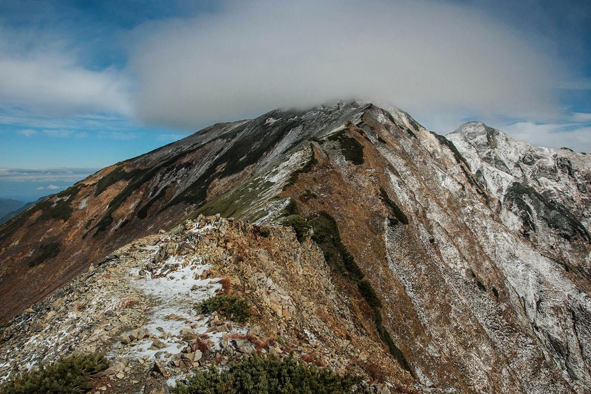 【鹿島槍ヶ岳】登山百景-鹿島槍ヶ岳に雲がかかってしまった