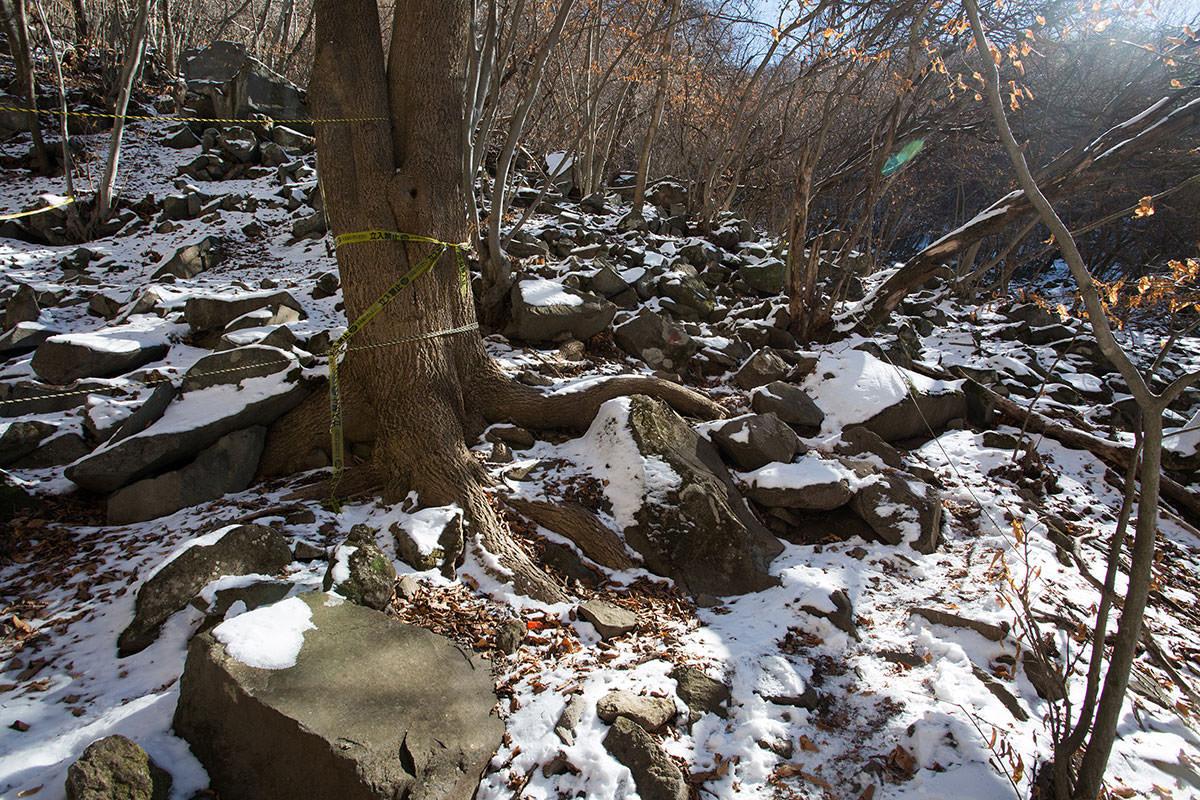 【茅ヶ岳 女岩ルート】登山百景-女岩を通過