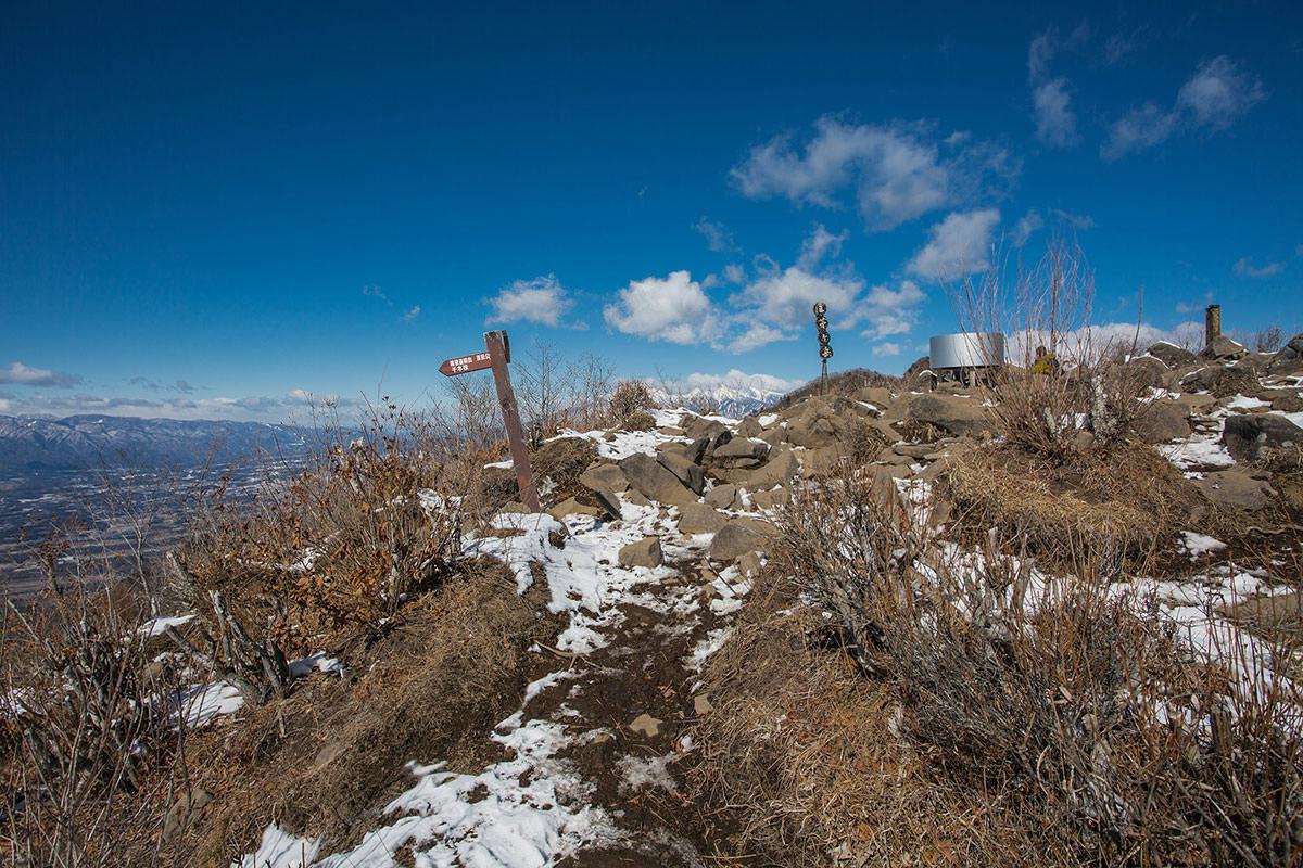 【茅ヶ岳 女岩ルート】登山百景-山頂に着いた