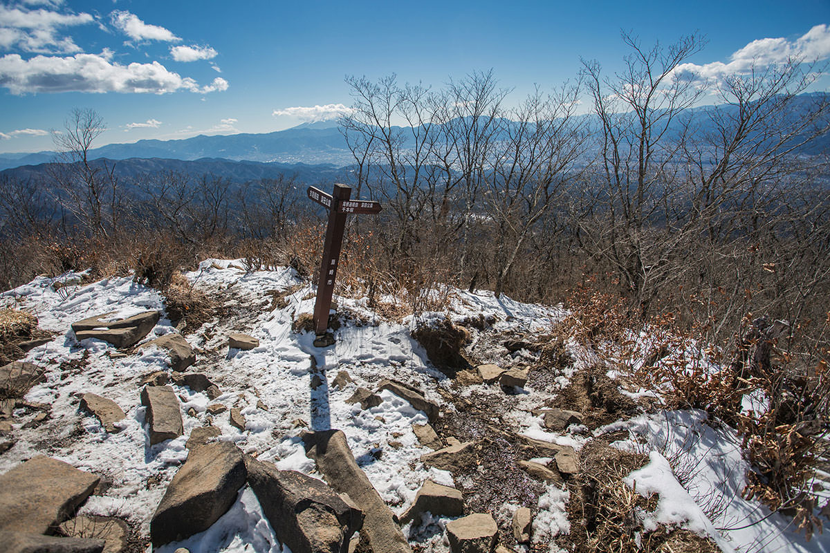 【茅ヶ岳 女岩ルート】登山百景-山頂から分岐