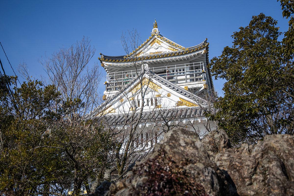 山頂の岐阜城は存在感がある