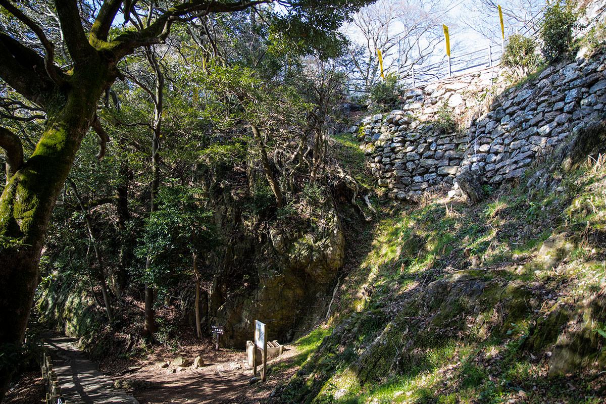石垣の下には井戸がある
