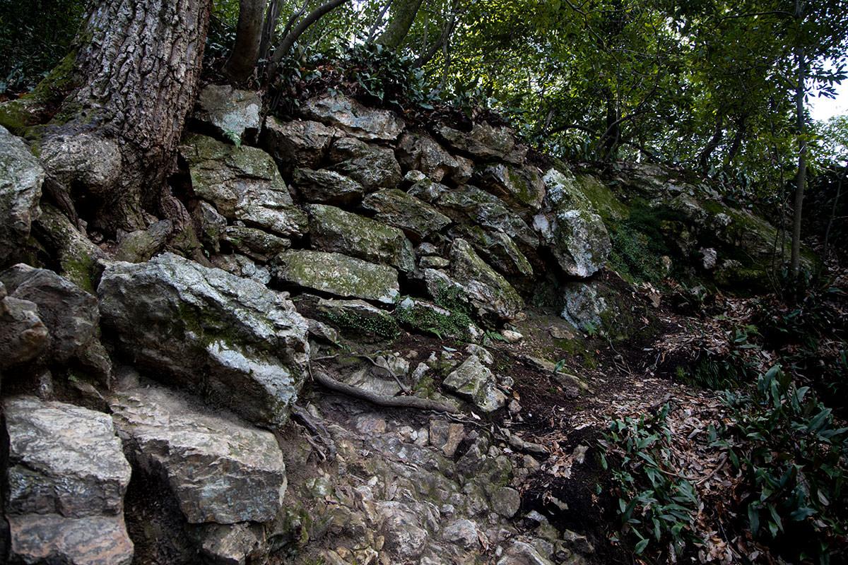 金華山-石積みらしきものがあった