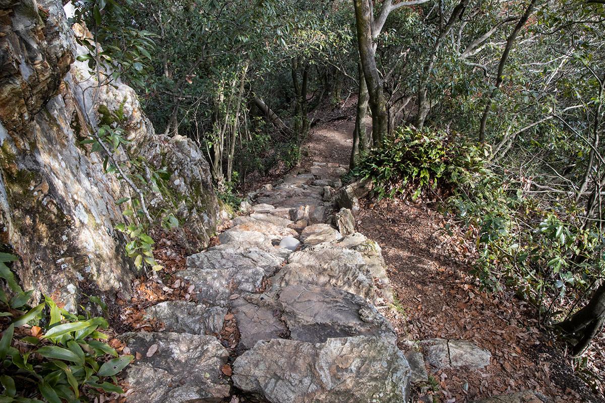 金華山-ここから下り始める
