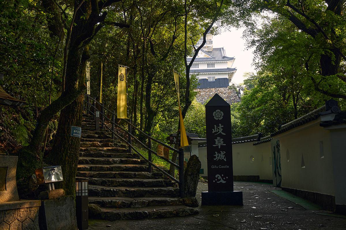 金華山-岐阜城が見えた