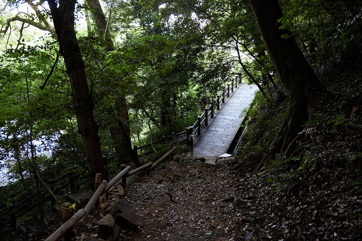 金華山-下に着いた