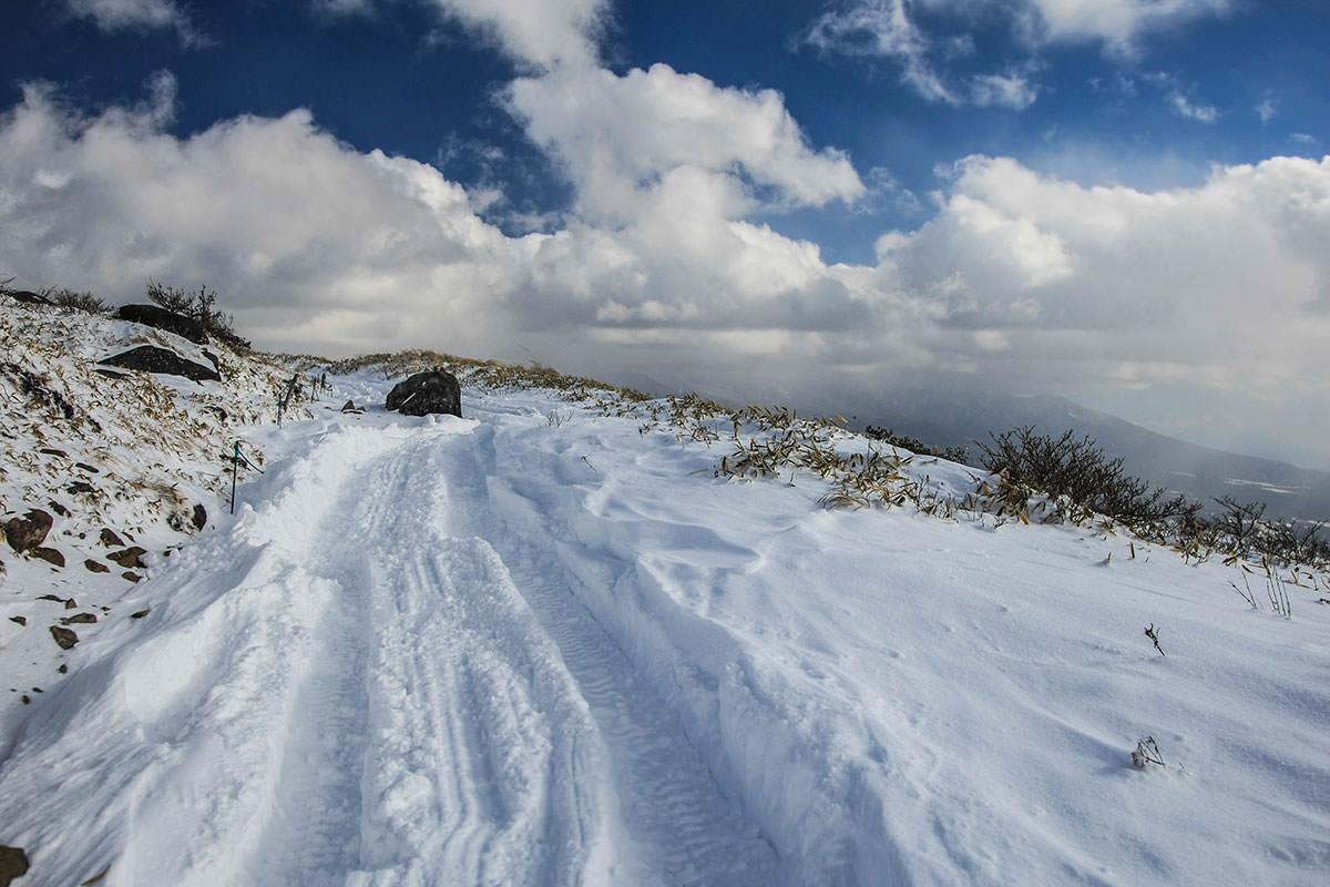 青空と雪がキレイ