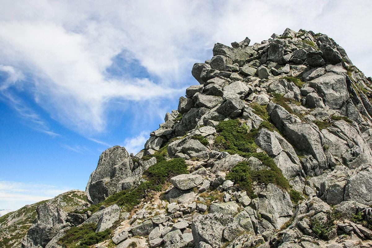 宝剣岳山頂はそこ