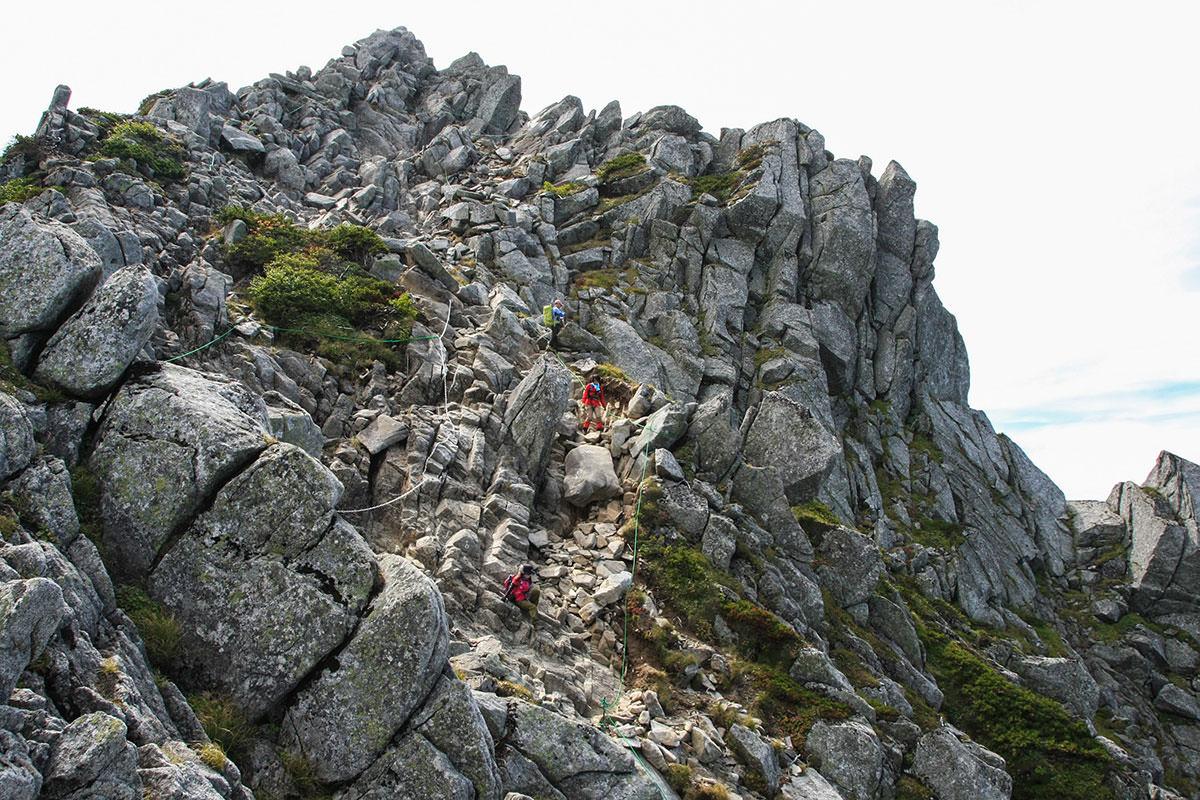 北側の岩場