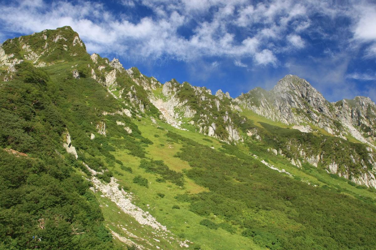 千畳敷カールから宝剣岳を見上げる