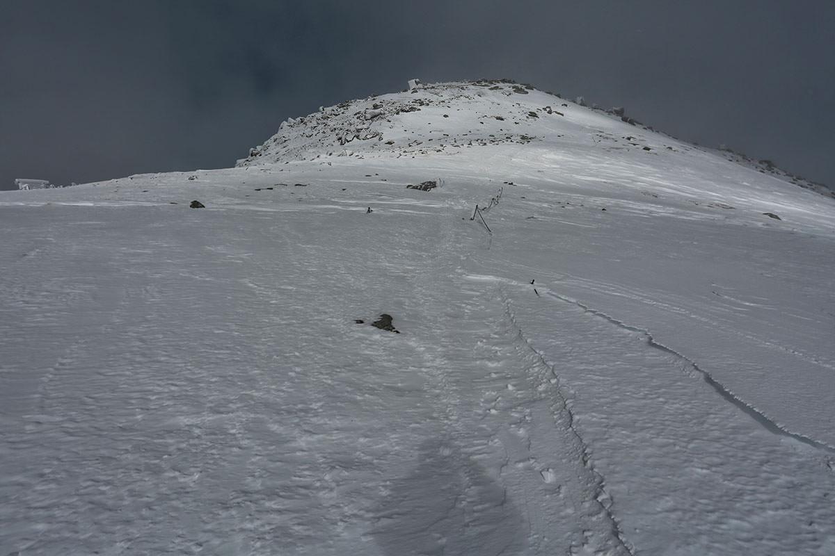 中岳が暗くなってきた
