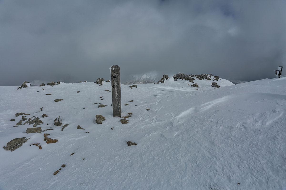 木曽駒ヶ岳の標
