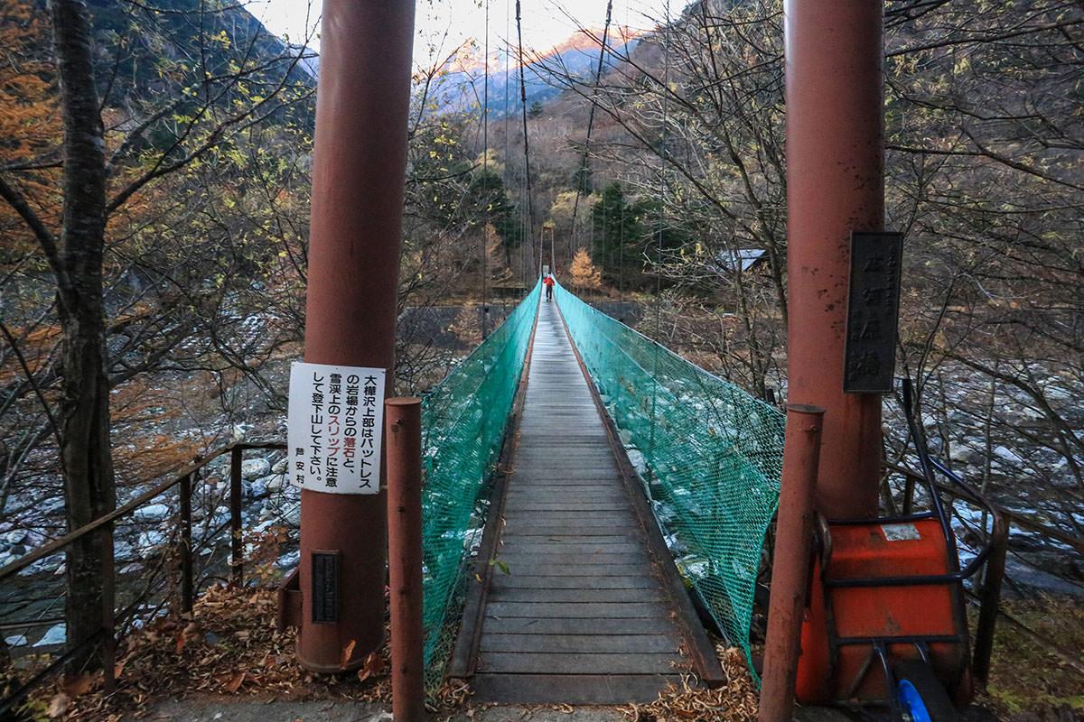 【北岳】登山百景-橋を渡る