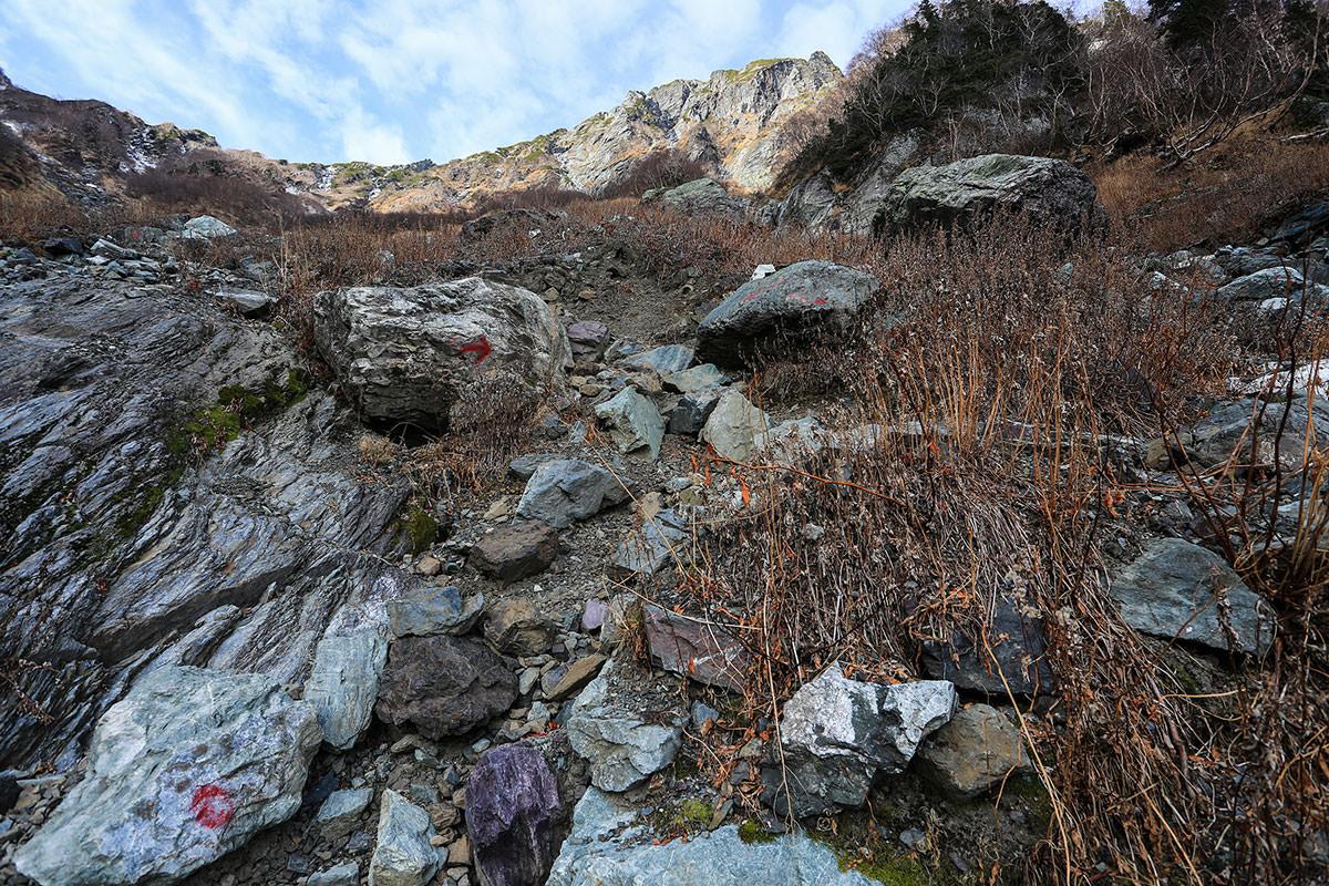 【北岳】登山百景-だんだん勾配が急に