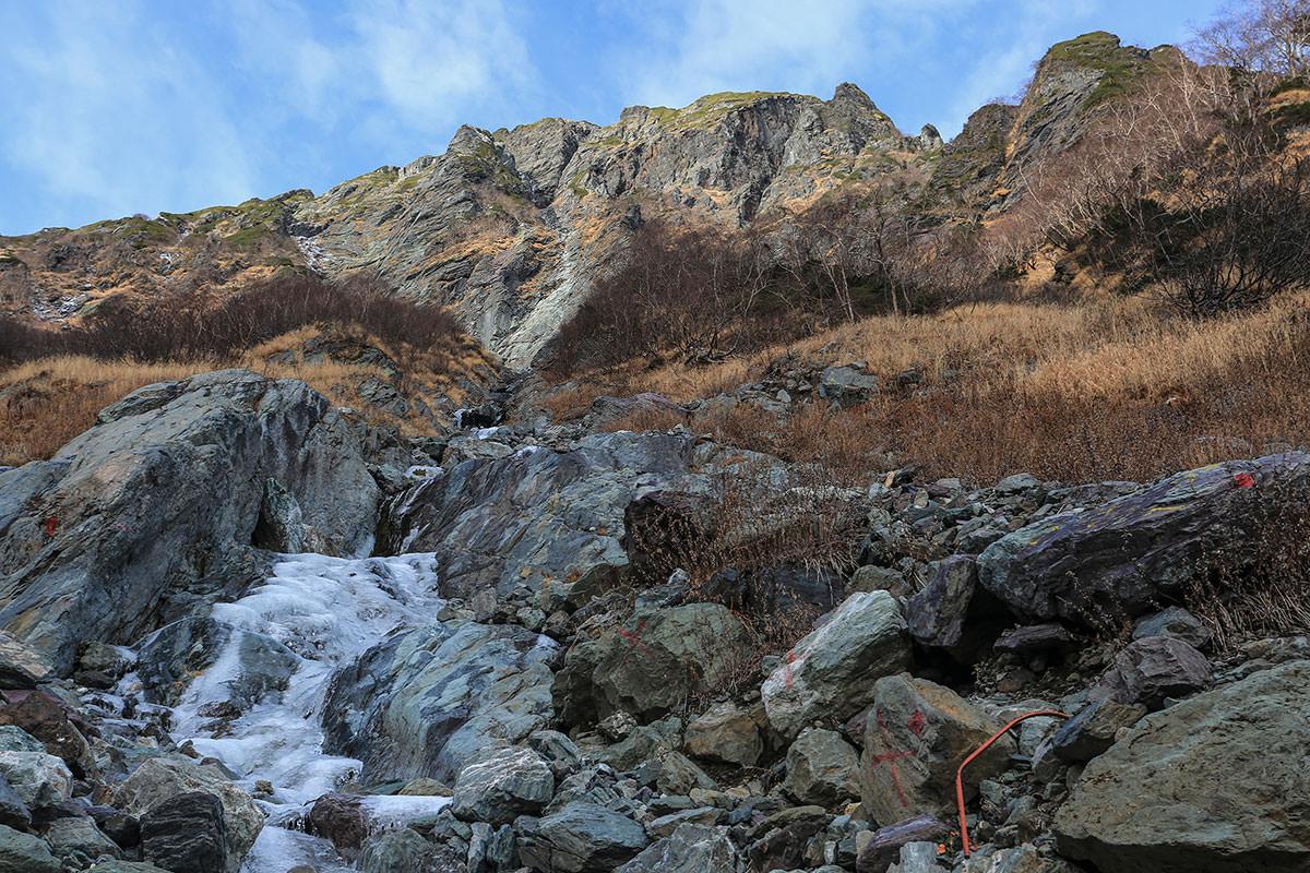 【北岳】登山百景-見上げるとバットレス