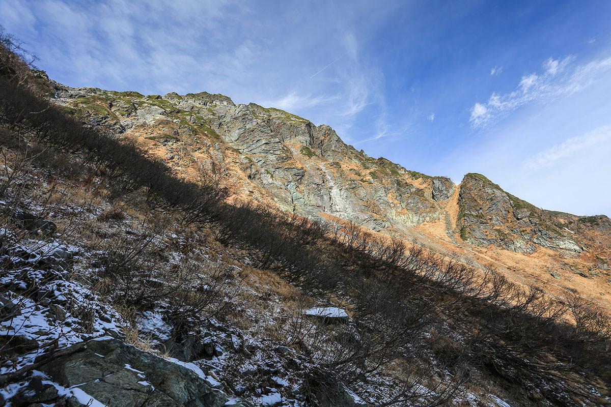 【北岳】登山百景-北岳が低く見えてきた