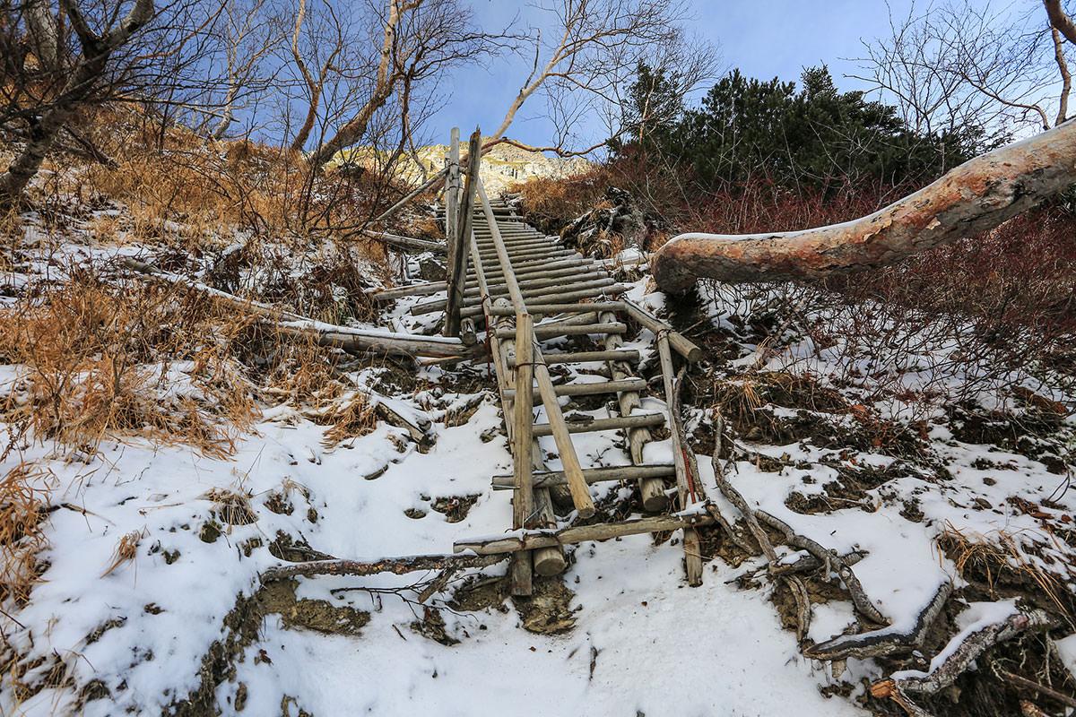 【北岳】登山百景-階段が始まる