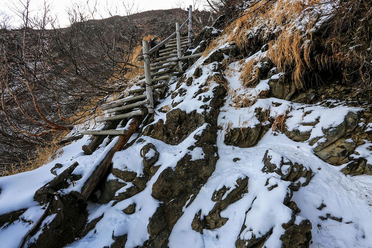 【北岳】登山百景-意外と滑らない