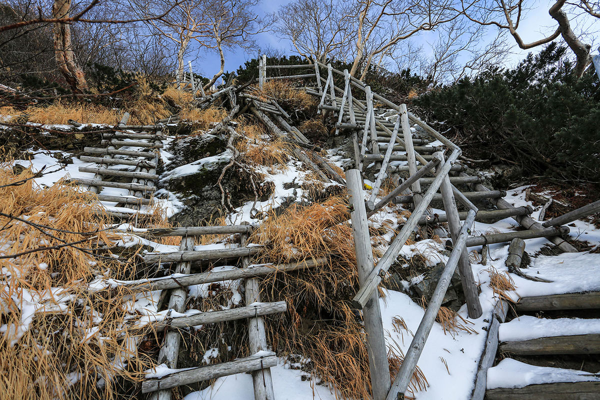 【北岳】登山百景-どっちの階段でもイイ