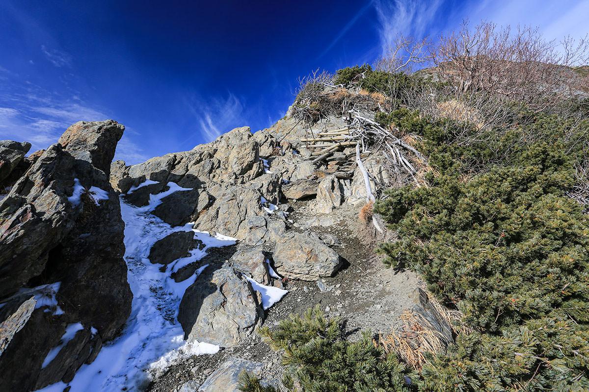 【北岳】登山百景-稜線を登る