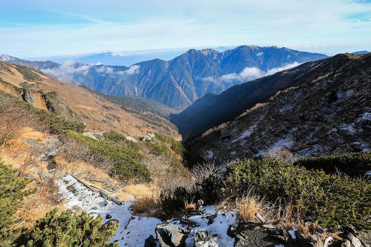 【北岳】登山百景-稜線からの鳳凰