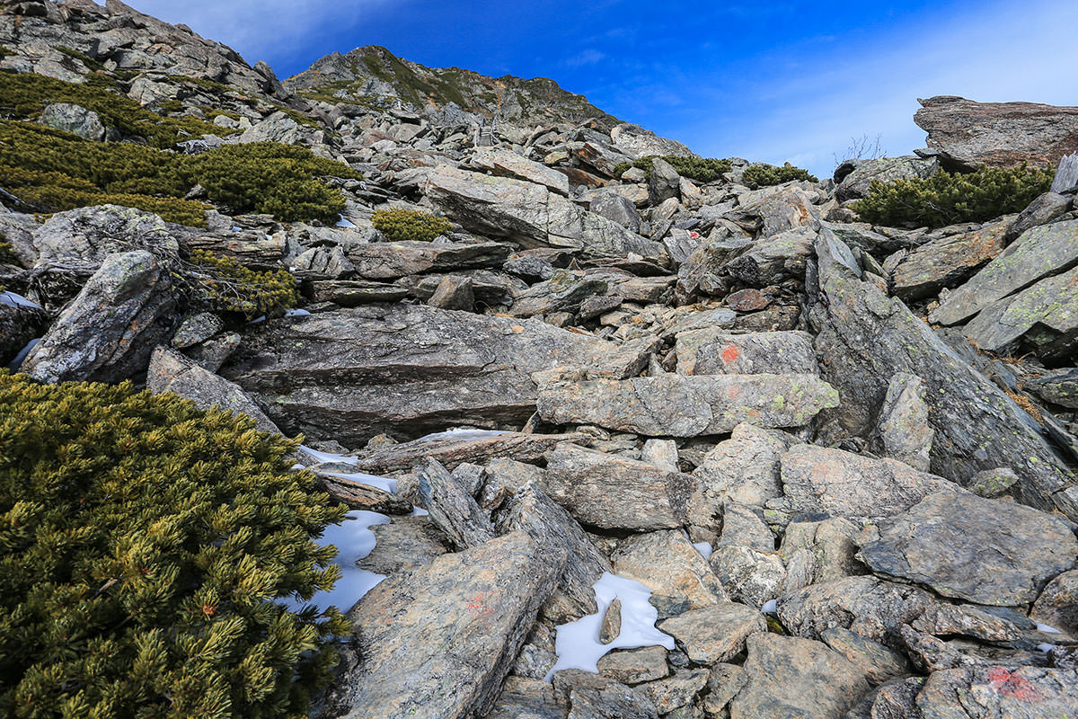 【北岳】登山百景-八本歯のコル