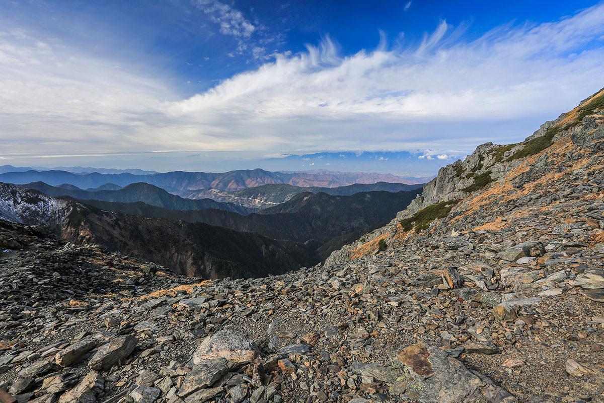 【北岳】登山百景-西の見晴らしが良い