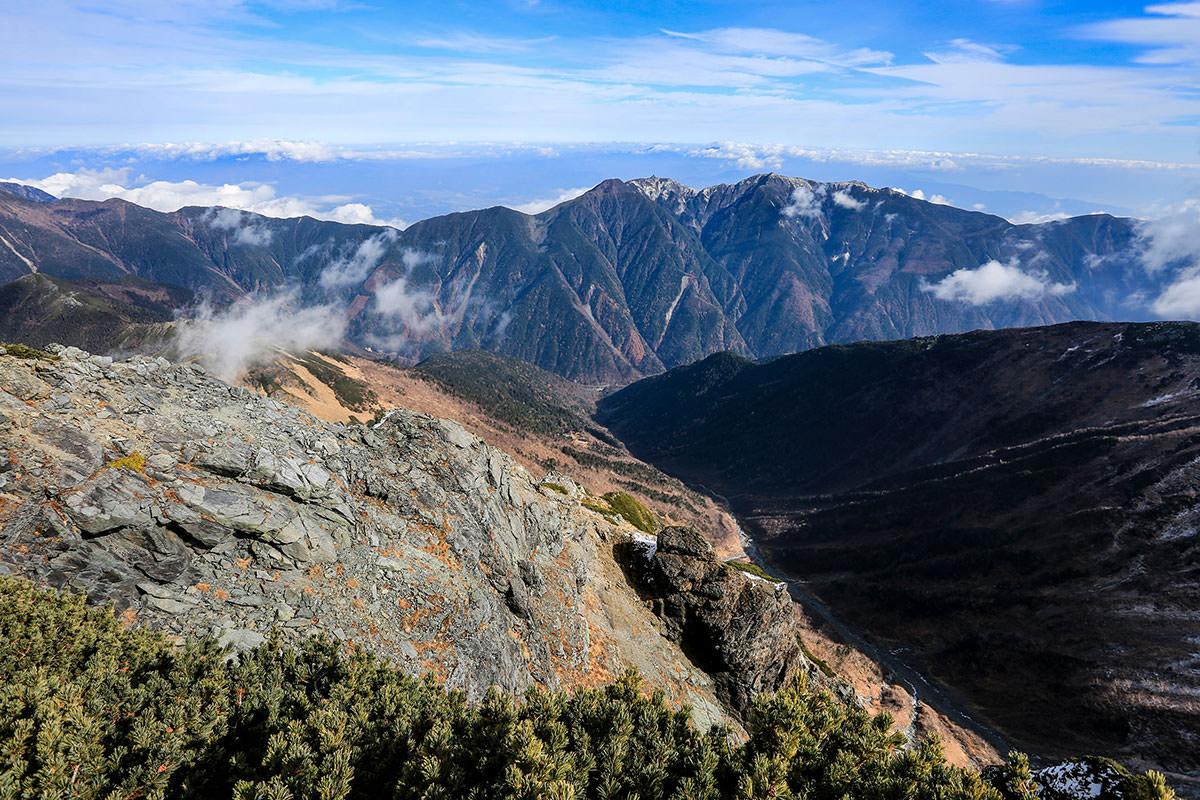 【北岳】登山百景-鳳凰三山は広河原の真上