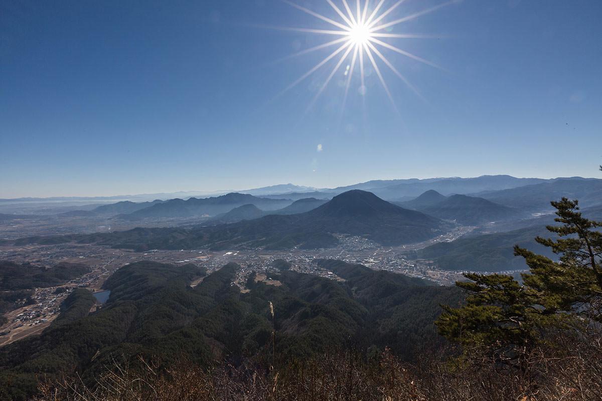 【子檀嶺岳】登山百景-真下に青木村