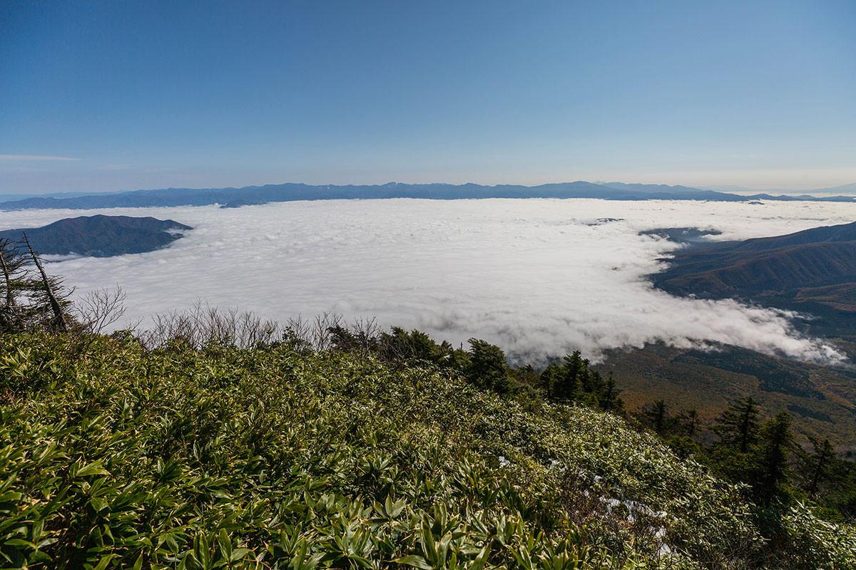 【黒姫山】登山百景-東側は雲海