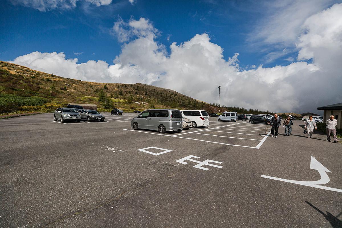 【草津白根山】登山百景-駐車場は広い