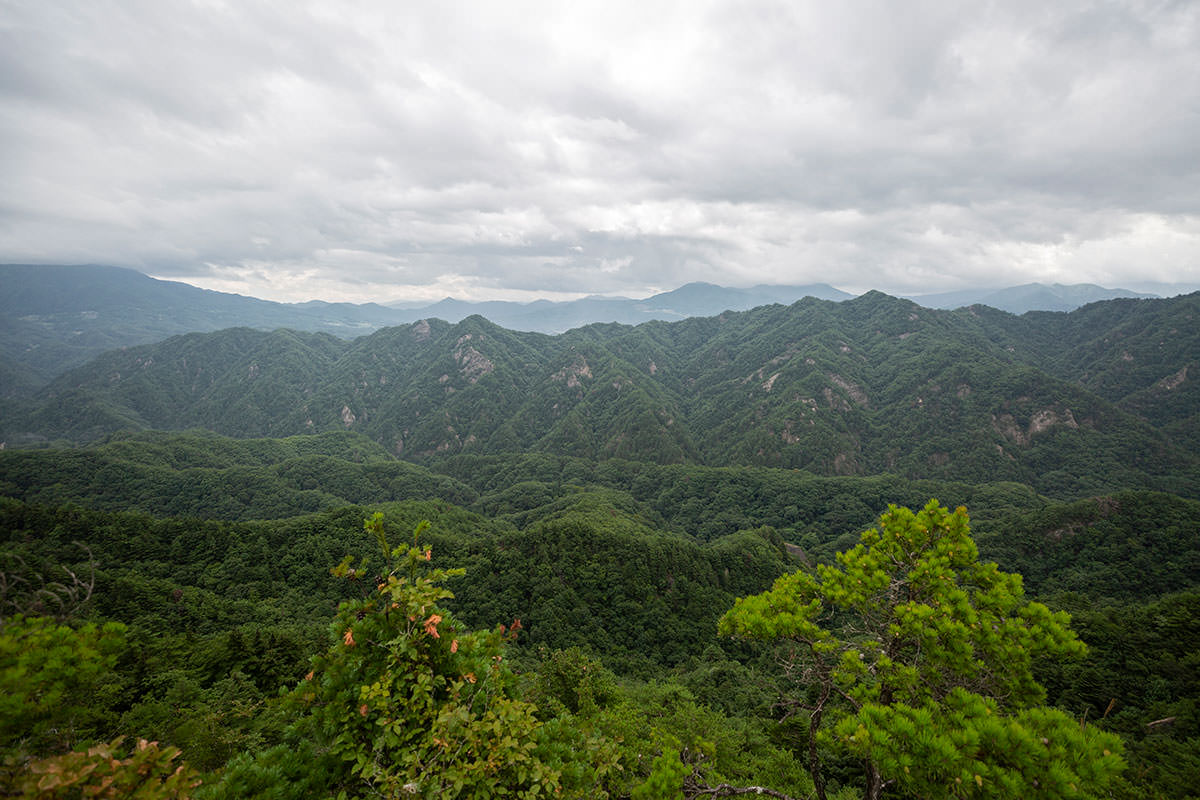 東側は山がいっぱい迫ってきていた