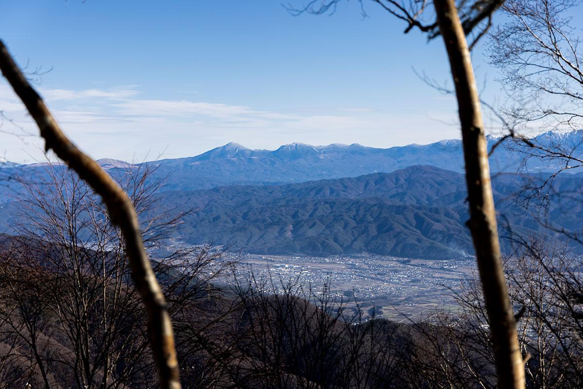 反対側には八ヶ岳が見える