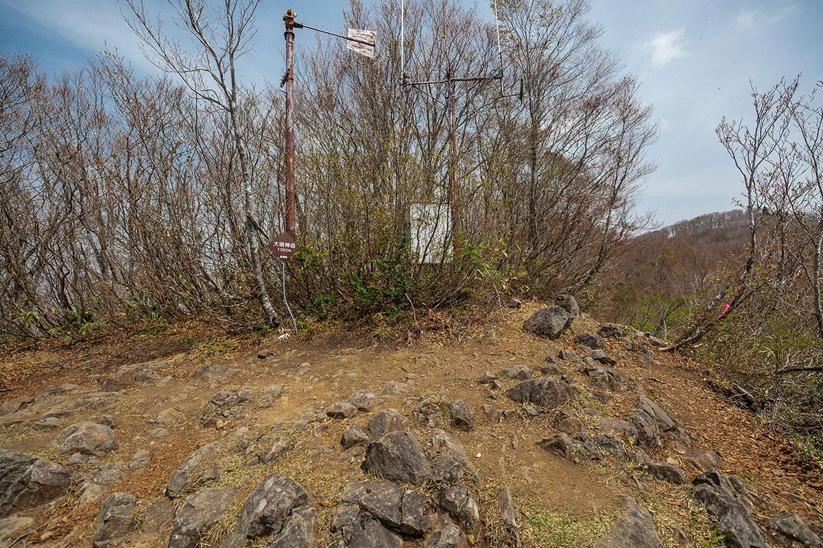 【斑尾山 菅川】登山百景-大明神岳に着いた