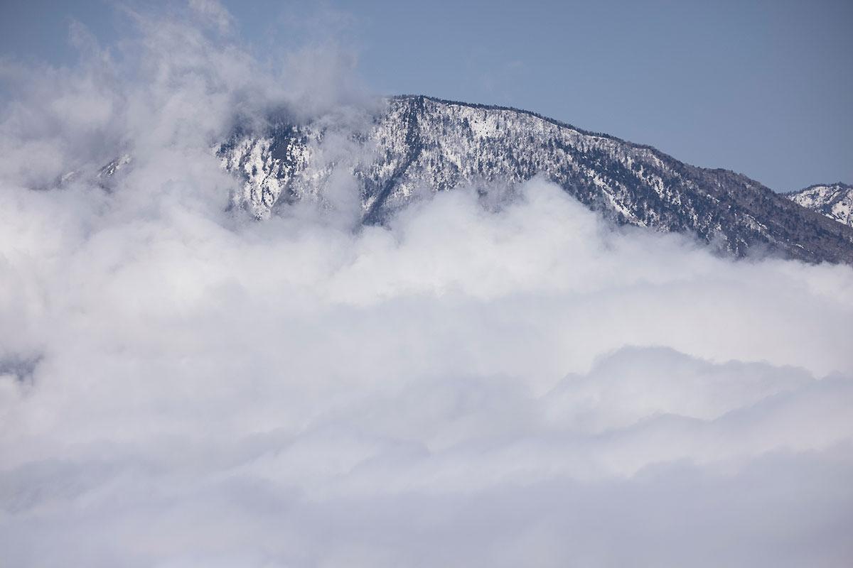 黒姫山は雪が多そう