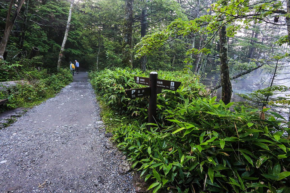【前穂高岳】登山百景-遊歩道を左へ
