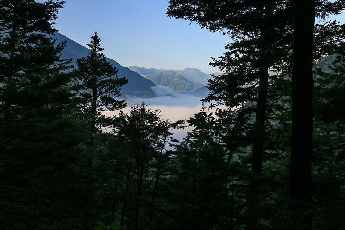 【前穂高岳】登山百景-雲海が見える