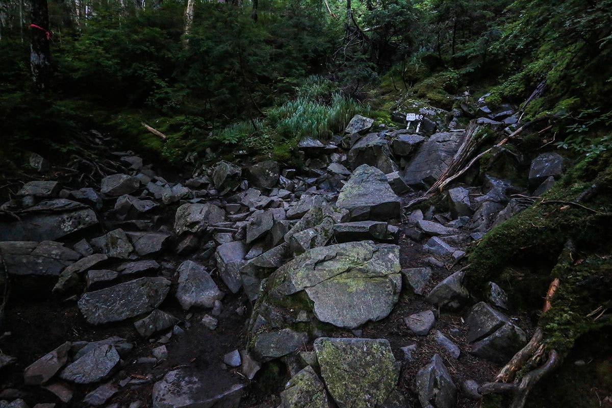 【前穂高岳】登山百景-岳沢名物の風穴
