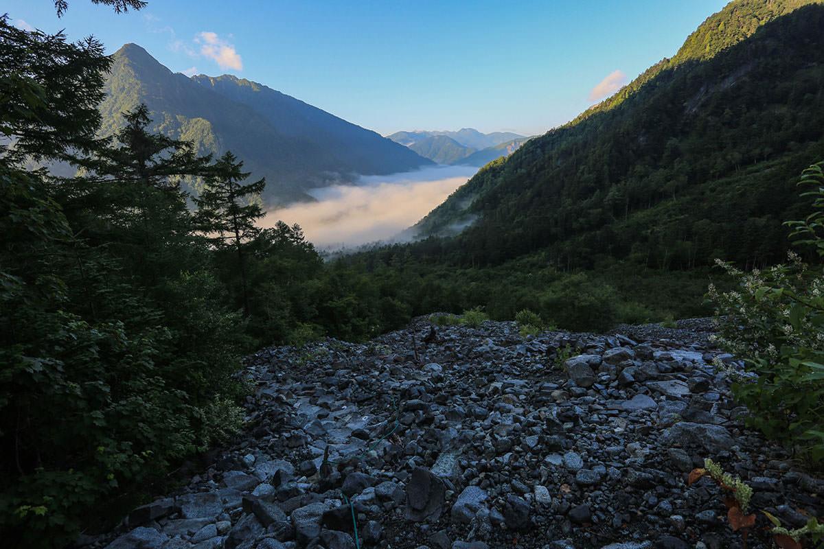 【前穂高岳】登山百景-上高地を見下ろす