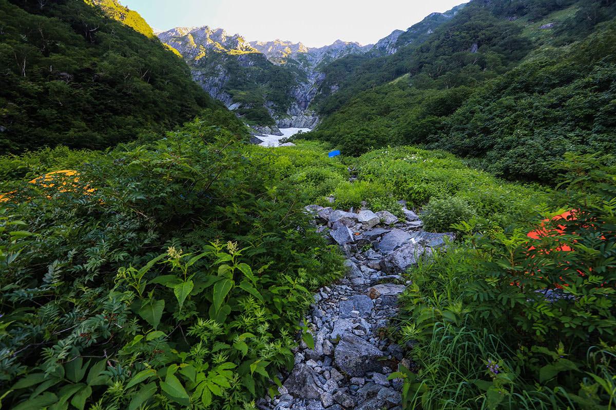 【前穂高岳】登山百景-テント場通過