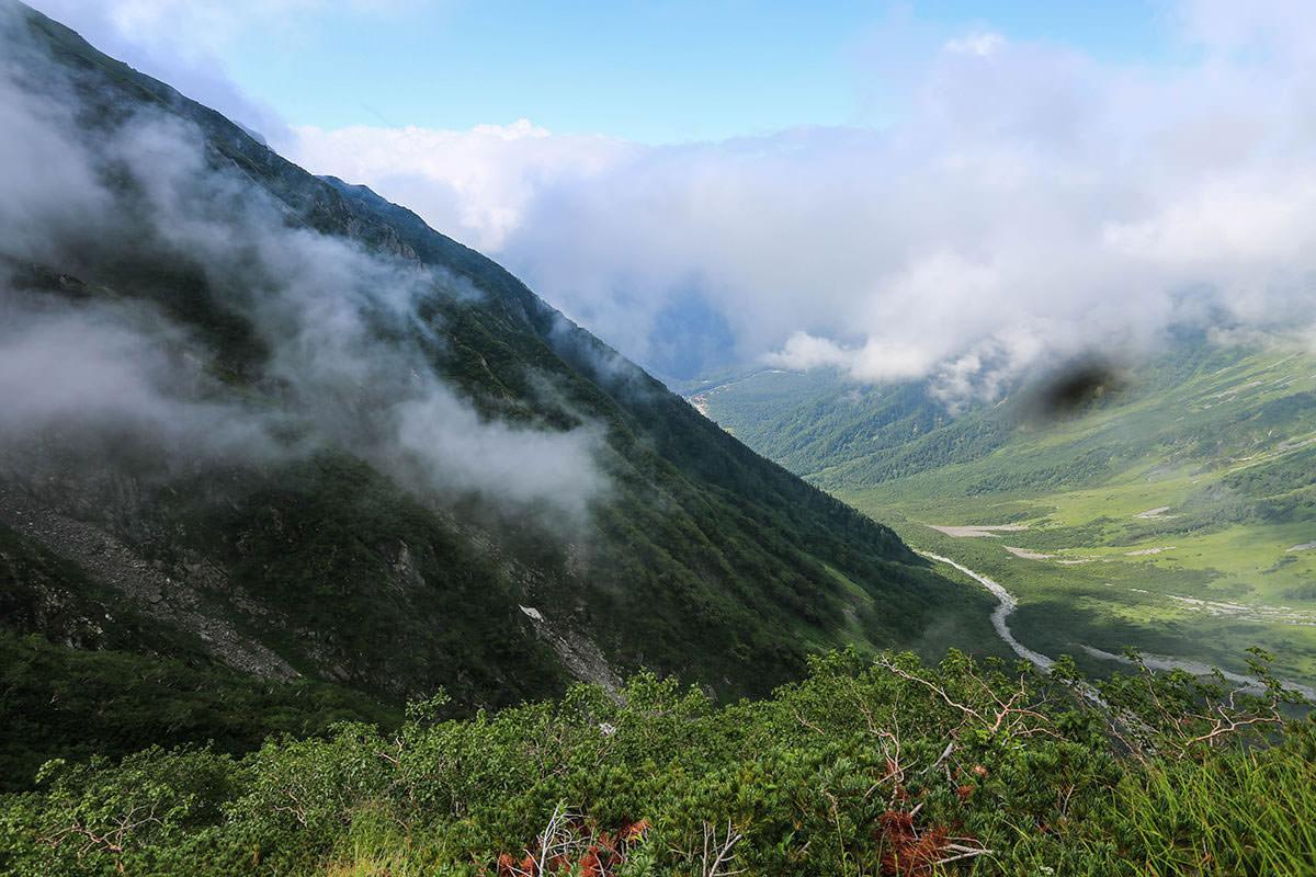 【前穂高岳】登山百景-見下ろす視界に虫