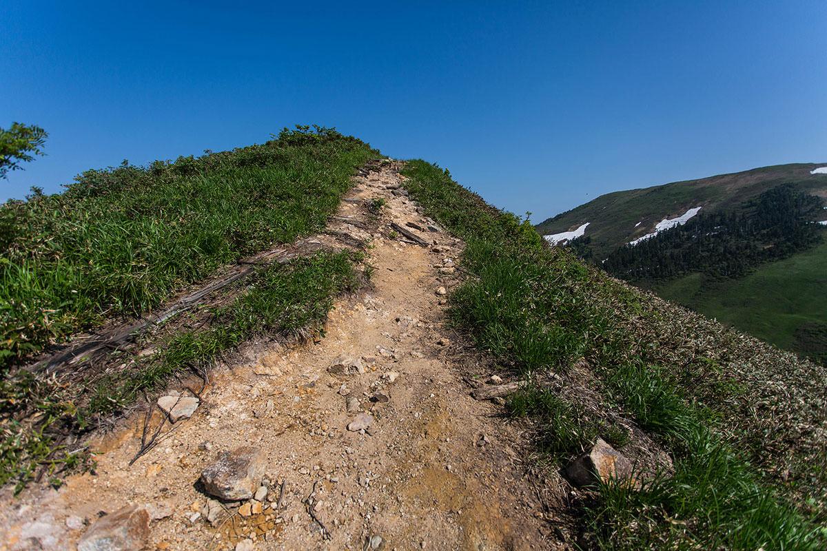 【巻機山】登山百景-急坂を登り切った