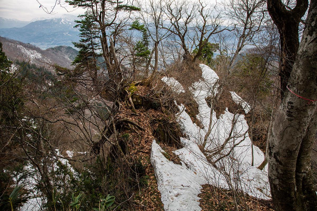 【万仏山】登山百景-岩尾根を下りる