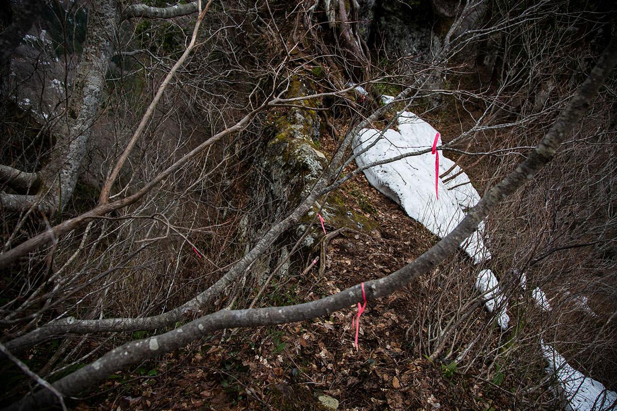 【万仏山】登山百景-万仏岩の上部に戻った