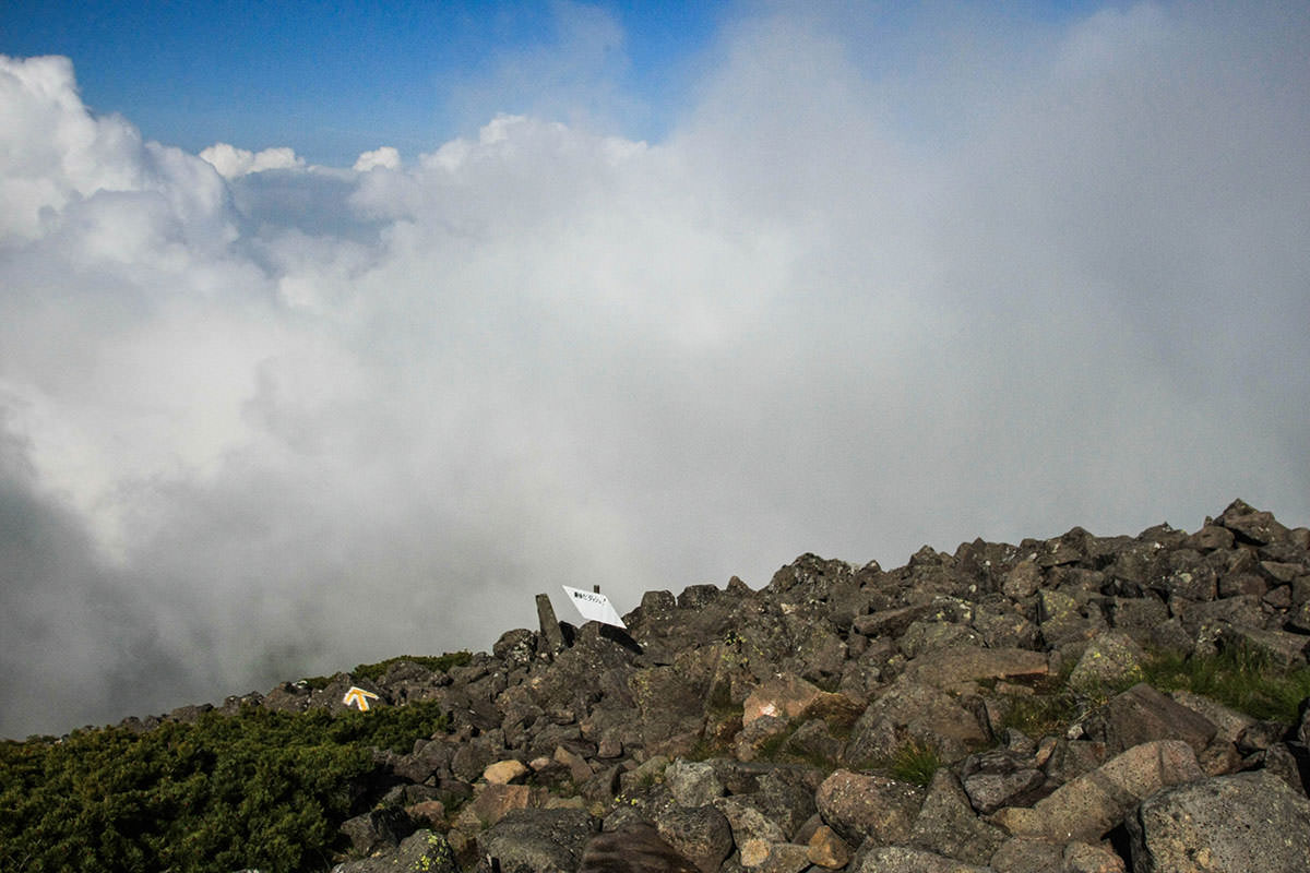 【南八ヶ岳 南北縦走】登山百景-富士見平方面は真っ白