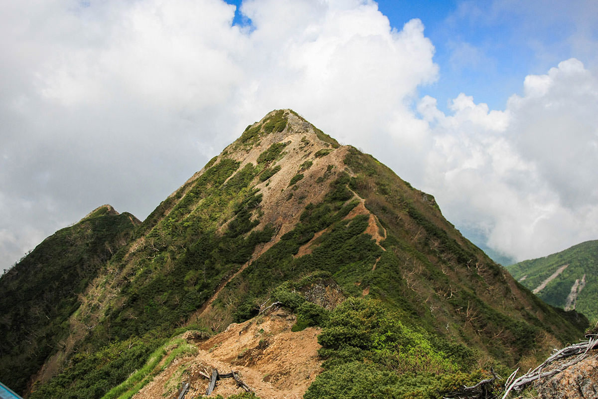 【南八ヶ岳 南北縦走】登山百景-振り返るとギボシ